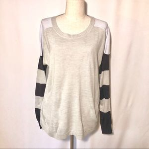 French Connection M grey color blocked sweater